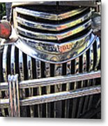 1946 Chevrolet Truck Chrome Grill Metal Print
