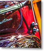 1946 Ford Super Deluxe Sportsman Convertible Side Emblem Metal Print