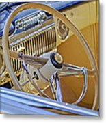 1947 Cadillac 62 Steering Wheel Metal Print