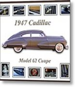 1947 Cadillac Model 62 Coupe Art Metal Print