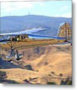1947 Cessna 140 Fly-by N4151n Metal Print