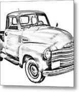1947 Chevrolet Thriftmaster Pickup Illustration Metal Print