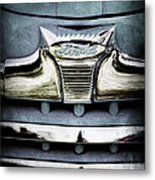 1947 Ford Deluxe Grille Emblem Metal Print