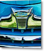 1947 Ford Deluxe Grille Ornament -0700c Metal Print