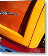 1947 Ford Super Deluxe Sportsman Convertible Taillight Emblem Metal Print