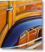 1947 Mercury Woody Reflecting Into 1947 Ford Woody Metal Print