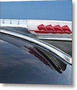 1947 Plymouth Hood Ornament Metal Print by Jill Reger