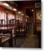 1947 Pullman Railroad Car Dining Room Metal Print
