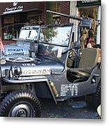 1947 Us Army Jeep Side View Metal Print