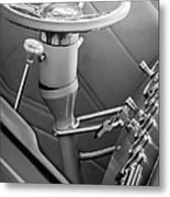 1948 Anglia Steering Wheel -504bw Metal Print