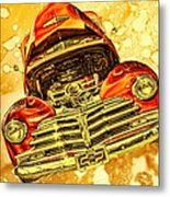 1948 Chevy Gold Acid Art Metal Print