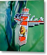 1948 Chrysler Town And Country Convertible Emblem -0974c Metal Print