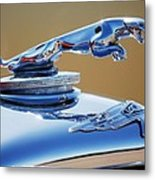 1948 Jaguar 2.5 Litre Drophead Coupe Hood Ornament Metal Print
