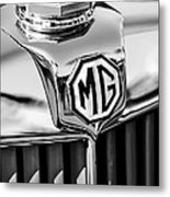 1948 Mg Tc Hood Ornament -767bw Metal Print