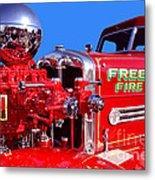 1949 Ahrens Fox Piston Pumper Fire Truck Metal Print