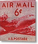 1949 Dc-4 Skymaster Air Mail Stamp Metal Print