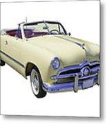 1949 Ford Custom Deluxe Convertible Metal Print