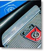 1949 Ford F-1 Pickup Truck Step Plate Emblem -0043c Metal Print