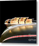 1949 Plymouth Schooner Hood Ornament Metal Print by Renee Trenholm
