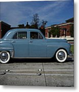 1949 Plymouth Metal Print by Shukis Lockwood