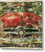 1949 Red Ford Coupe Metal Print