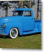 1950 Baby Blue Chevrolet Pu Metal Print