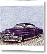 Chopped 1950 Cadillac Coupe De Ville Metal Print