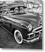 1950 Chevrolet Sedan Deluxe Painted Bw   Metal Print