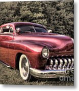 1950 Custom Mercury Subdued Color Metal Print