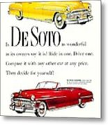1950 - De Soto Sportsman Convertible - Advertisement - Color Metal Print