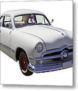 1950 Ford Custom Antique Car Metal Print