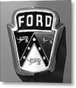 1950 Ford Custom Deluxe Station Wagon Emblem Metal Print by Jill Reger
