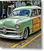 1950 Ford Deluxe Woody Station Wagon Metal Print