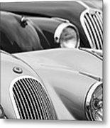 1950 Jaguar Xk120 Roadster Grille 2 Metal Print by Jill Reger