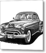 1950 Oldsmobile Rocket 88 Metal Print