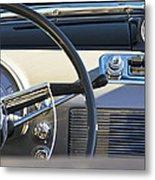 1950 Oldsmobile Rocket 88 Steering Wheel 3 Metal Print
