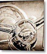 1950 Oldsmobile Rocket 88 Steering Wheel Emblem Metal Print