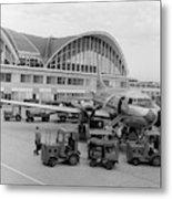 1950s 1960s Propeller Airplane Metal Print