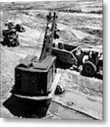 1950s Construction Site Excavation Metal Print