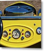 1950s Hot Road Dashboard At Antique Car Metal Print