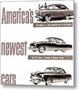 1951 - Kaiser Frazer Manhattan Automobile Advertisement - Color Metal Print