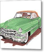 1951 Cadillac Series 62 Convertible Metal Print