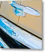 1951 Chevrolet Style Deluxe Grille Emblem Metal Print