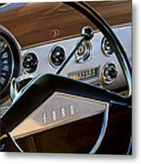 1951 Ford Crestliner Steering Wheel Metal Print