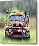 1951 Ford Truck - Found On Road Dead Metal Print