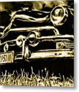 1951 Ford V8 Convertible Metal Print by Phil 'motography' Clark