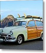1951 Ford 'woody' Wagon Metal Print