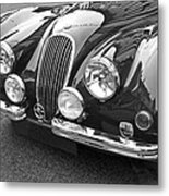 1951 Jaguar Xk120 In Black And White Metal Print
