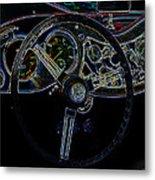1951 Mg Td Dashboard_neon Car Art Metal Print
