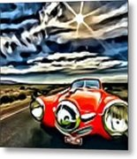 1951 Red Studebaker Metal Print